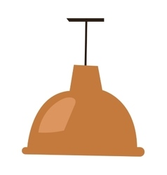 Brown lamp vector image vector image