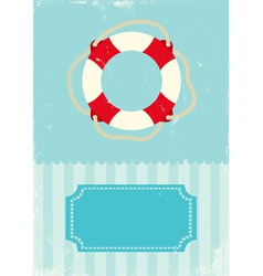 buoy grunge vector image