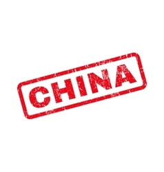 China text rubber stamp vector