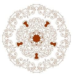Circular ornament mehndi henna tattoo mandala vector