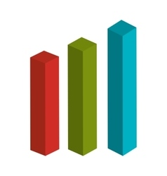 Colorful statistics bars in red green and blue vector