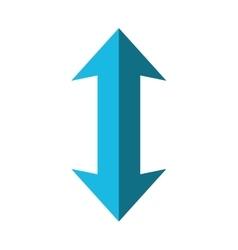 Double arrow icon direction design vector