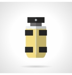 Eau de toilette for men flat color icon vector