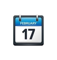 February 17 calendar icon vector