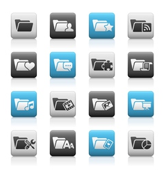 Folder Icons 2 Matte Series vector image vector image