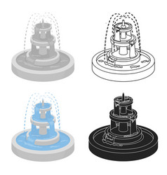 Fountain icon in cartoon style isolated on white vector