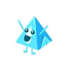 Pyramid milk carton character vector
