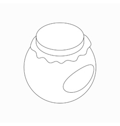 Round jar icon isometric 3d style vector image vector image
