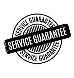 Service guarantee rubber stamp vector