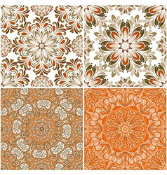 set of round seamless patterns vector image vector image