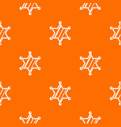 sheriff star pattern seamless vector image vector image