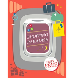 Shopping duty free Travel concept design airplane vector image vector image