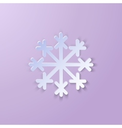 Single paper snowflake vector
