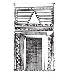 Treasury of atreus doorway tomb of agamemnon vector