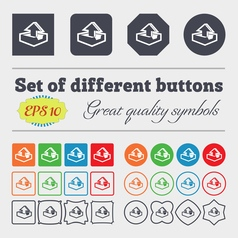 Upload icon sign Big set of colorful diverse vector image