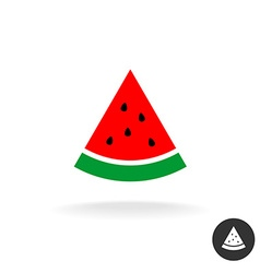 Watermelon slice flat style color icon symbol vector image vector image