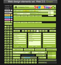 web design elements green vector image