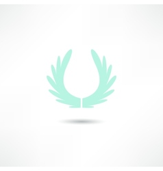 wings icon vector image vector image
