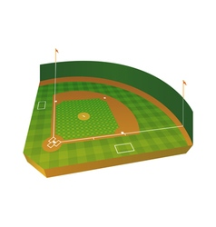 3d baseball field vector