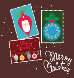 christmas post card vector image