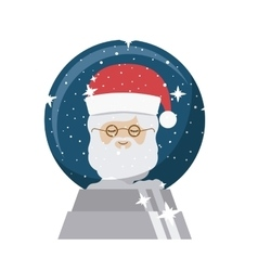 Santa of christmas season design vector