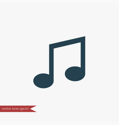 Music note icon simple vector