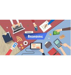 Branding concept creative idea digital marketing vector