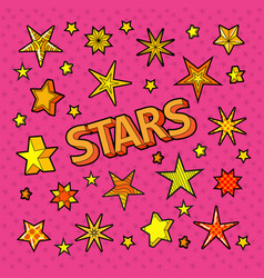 Stars doodle collection of star shapes vector