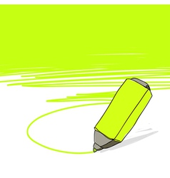 highlighter concept vector image