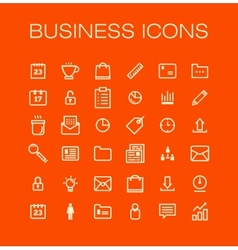 business universal Outline Icons For Web and vector image