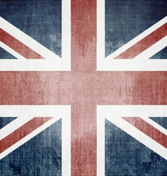 Grunge uk flag vector