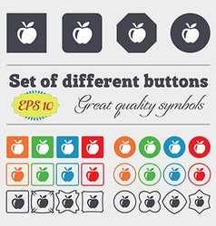 Apple icon sign big set of colorful diverse vector
