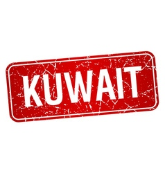 Kuwait red stamp isolated on white background vector