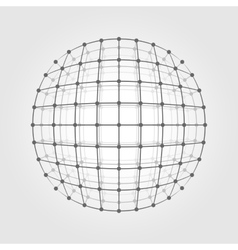 Wireframe mesh a circle vector image