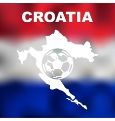 Croatian abstract map vector