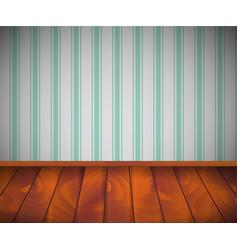 background empty room with wooden floor or vector image