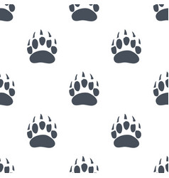 Animal footprints and tracks royalty free vector image for Bear footprints template