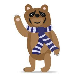 Bear waving hand vector