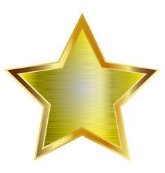 big gold star vector image