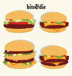 Burger collection vector