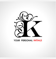 capital letter k decorated with vegetable vector image vector image