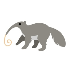 Cute cartoon anteater with long tongue isolated on vector image