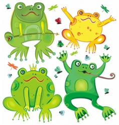 Cute frogs vector