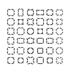 Decorative frames set 2 vector image