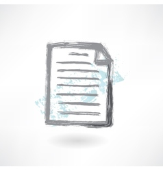Document grunge icon vector image