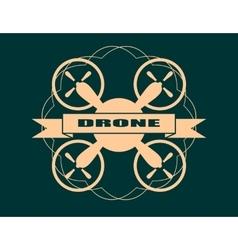 Drone quadrocopter icon drone text vector