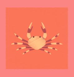 flat shading style animal crab vector image
