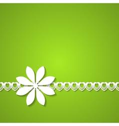 green flower background vector image