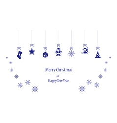 Happy toys in blue colors vector image vector image