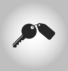 key icon isolated vector image vector image